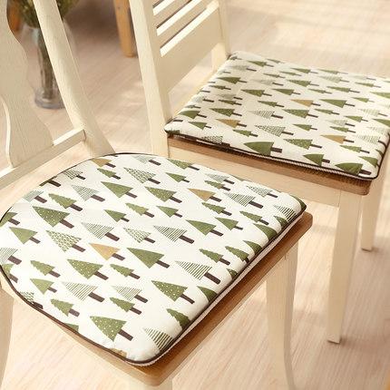 餐厅餐桌餐椅实木长方形椅子坐垫