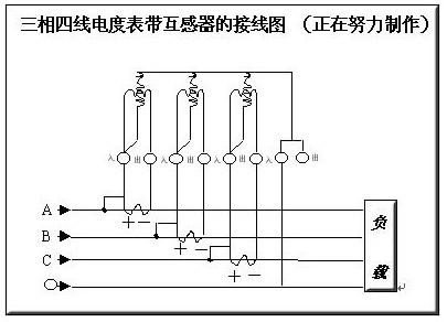生活小常识:三相四线电表接线图