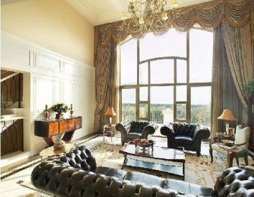客厅落地窗装修设计效果图案例