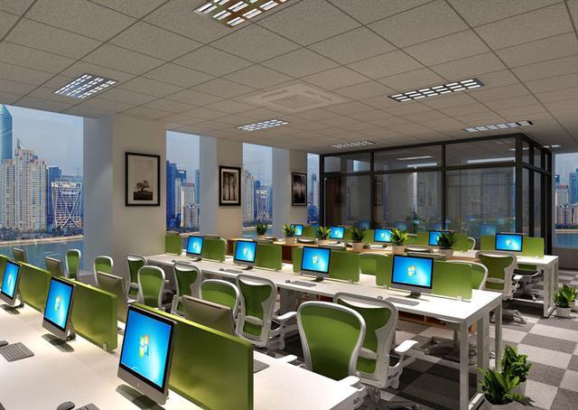 205平方小型办公室装修设计效果图