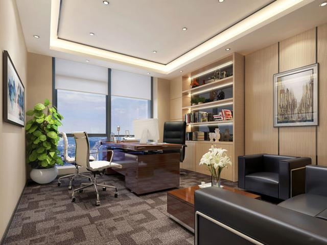 205平方小型办公室装修设计效果图案例