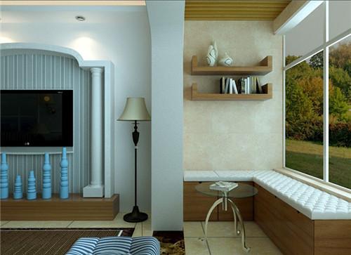 风格阳台装修效果图简约柜子小柜子阳台v风格威海骏达景观设计图片