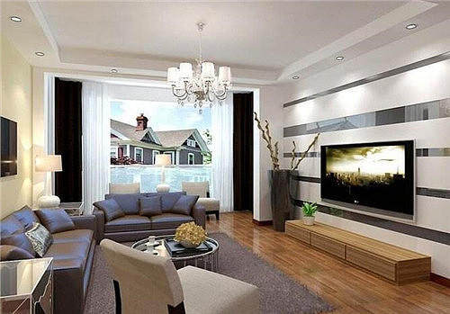 客厅电视墙装修效果图 如何打造简约大气电视墙