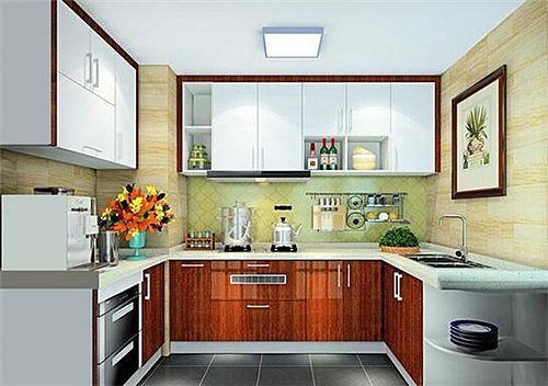 u型厨房装修效果图 u型厨房实用和美的结合