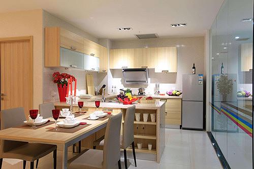 半开放式厨房装修效果图 健康生活从厨房开始