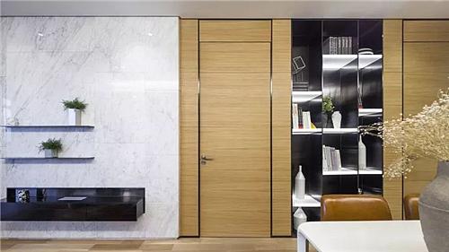 68㎡简约小二房装修 隐形门设计得很巧妙