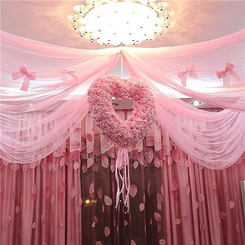 婚房纱幔布置图片 纱幔怎样
