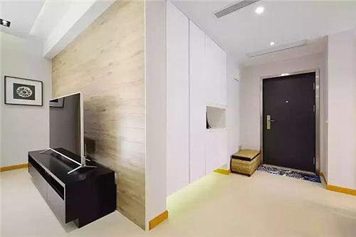 三室二厅简约风装修日记 大白墙+橙色门框一点不单调!