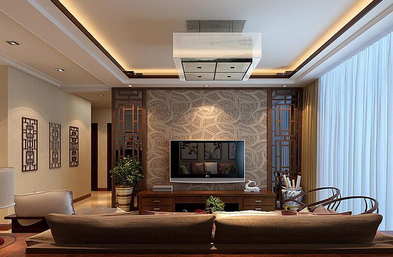 中式装修电视墙效果图 带你感受历史沉淀出的魅力