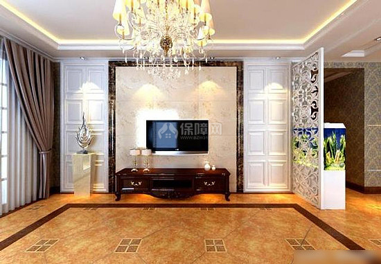在电视背景墙上挂画一则是为了美观,再则是为了化解不良风水.
