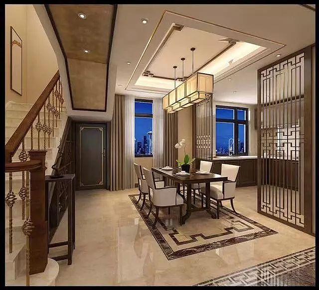 新中式风大复式 第一次见这么大气时尚的别墅!