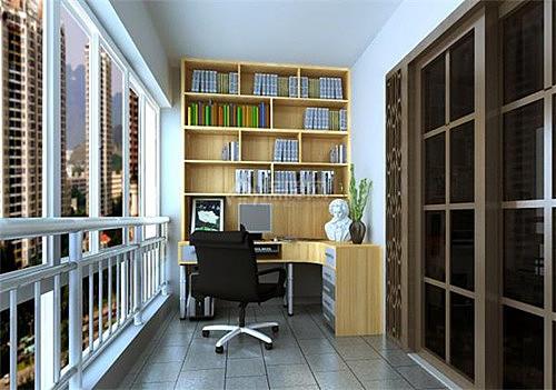 阳台改书房
