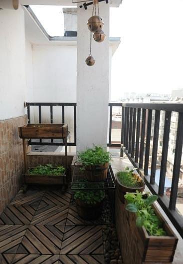 别墅露天阳台装修设计效果图案例
