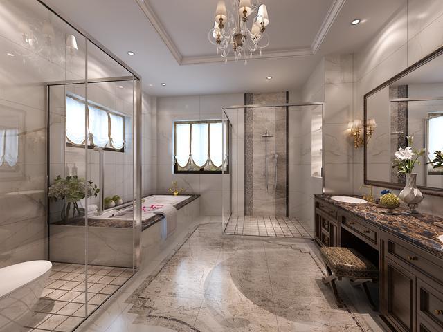 为了迎合古典欧式风格奢华尊贵的特点,在配饰上多采用金黄色和棕色,衬托出古典家具的高贵与优雅,富于古典美感的窗帘和地毯、造型精致的吊灯使整个空间看起来极具韵律感且大方典雅,柔和的暖色花艺为整个空间带来柔美的气质,给人以开放、宽容的非凡气度,让人丝毫不显局促。
