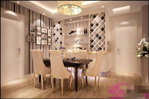 家庭餐厅酒柜装修搭配效果图片案例