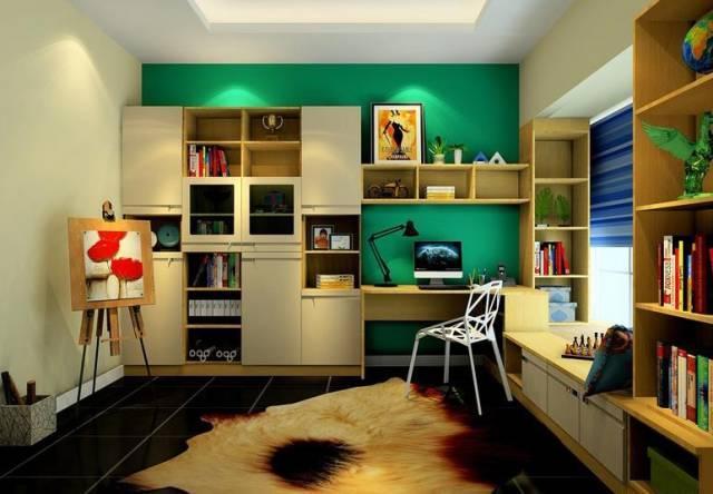 适合画家艺术家的工作间书房装修设计效果图案例图片