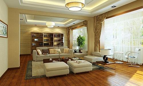 客厅木地板装修效果图 为客厅增添清新格调