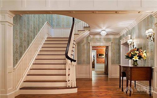 楼梯墙裙装修效果图 打造楼道中的亮丽风景