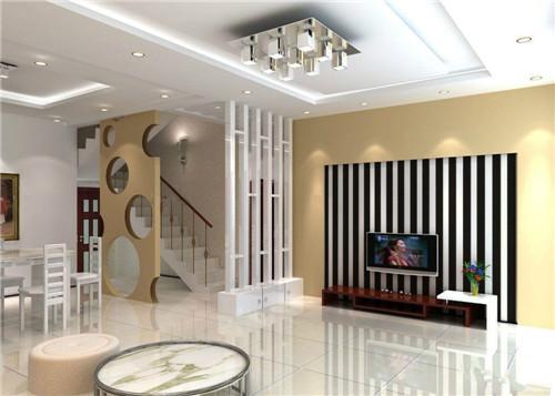 可以看得出整个大厅在宁静中又显得很大气,设计师将楼中楼的楼梯设计图片