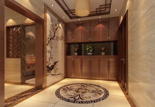 中式装修玄关成效图 演绎中式古典风情