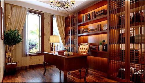 书房这样设计美观又实用 书房装修效果图赏析