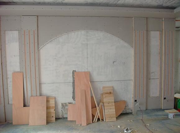 电视背景墙木工造型设计 木工电视背景墙施工流程