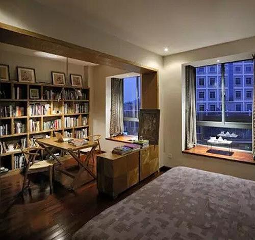 卧室书房装修效果图 房间这样布置让孩子爱上学习