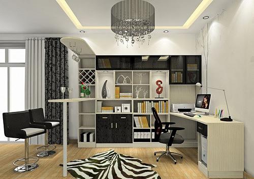 家庭书房装修效果图 5种不同风格的家庭书房设计