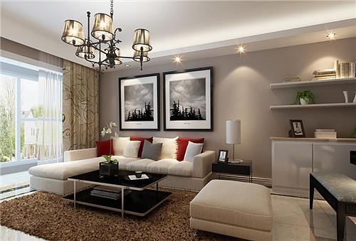 小户型装修效果图 80平米现代简约风格两居室