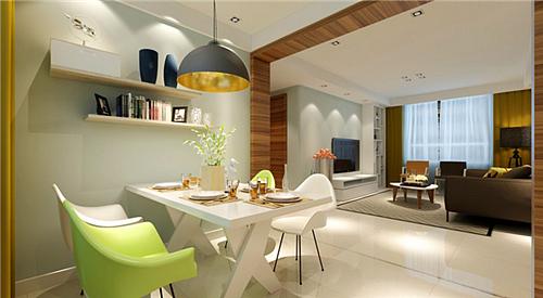 70平方装修效果图 两室一厅简约风格装修设计案例