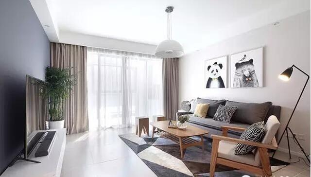 下面给大家推荐15款北欧风格的精美客厅及电视墙设计图片