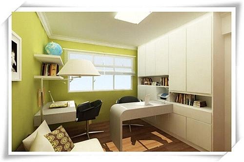 小书房怎么装修好看 7平米书房装修0.1㎡都不放过
