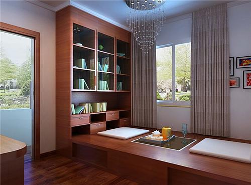 家装书房效果图 8平米打造安静雅致的书房
