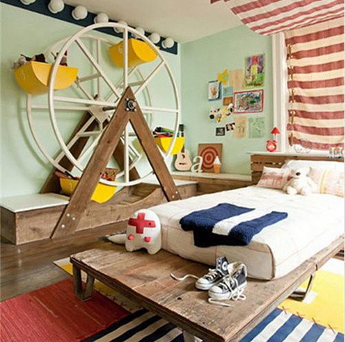 小儿童房装修效果图 8㎡小户型经典儿童房设计
