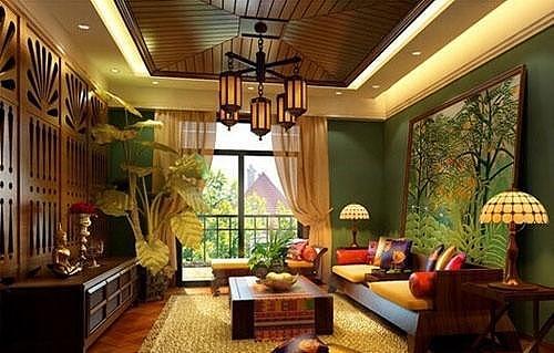 藤条、竹子、石材 东南亚风格装修自然随心