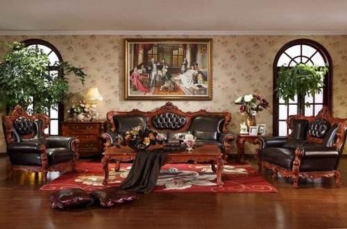 欧式红木家具效果图 欧式红木家具尽显高贵大气_装修