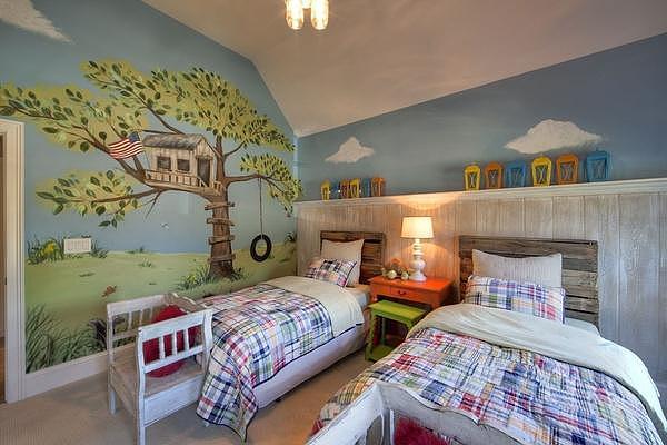 二胎时代来了 儿童房这样设计很有feel!