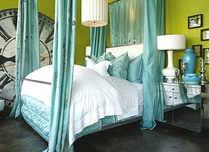给卧室空间多点色彩 8种复古炫酷卧室