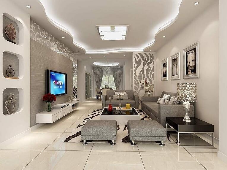 客厅吊顶装修效果图 用对吊顶让客厅更有格调