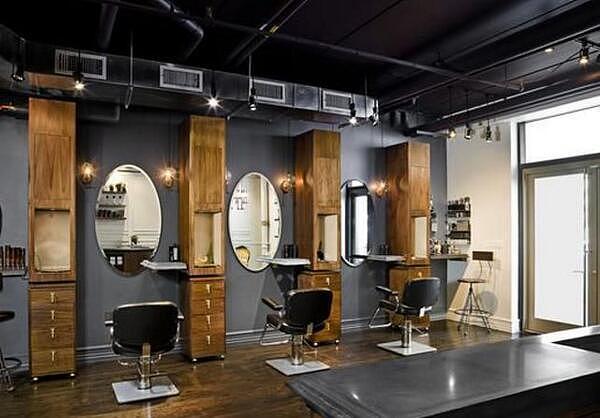 design 理发店装修效果图 理发店装修设计  理发店20平方怎么装修
