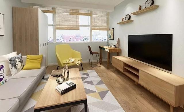 一家三口的58平二房交换空间装修案例