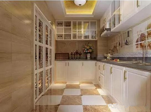 厨房推拉门装修效果图 打造时尚精美的厨房空间