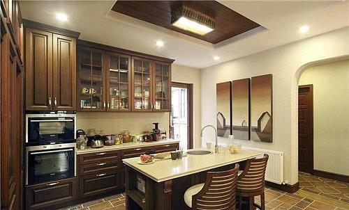 出彩的美式橱柜效果图 让艺术走进烹饪空间