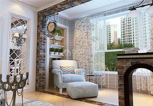 阳台装修效果图 小户型客厅阳台装修实用美观两不误