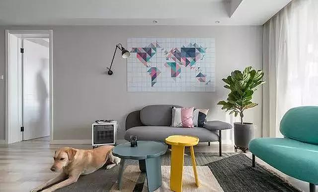 90㎡两居室简约风格装修 果然大气又温馨!