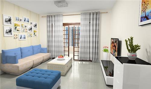 窗帘有几种_客厅乳胶漆效果图 几款不错的客厅乳胶漆装修案例 - 装修保障网