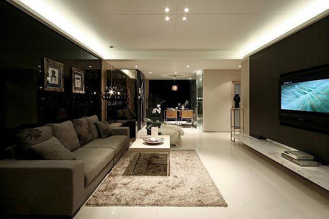 95平米三居室后现代风格案例