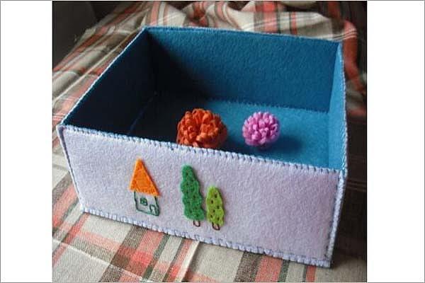 自制可爱收纳盒 实用性很强的家居DIY教程
