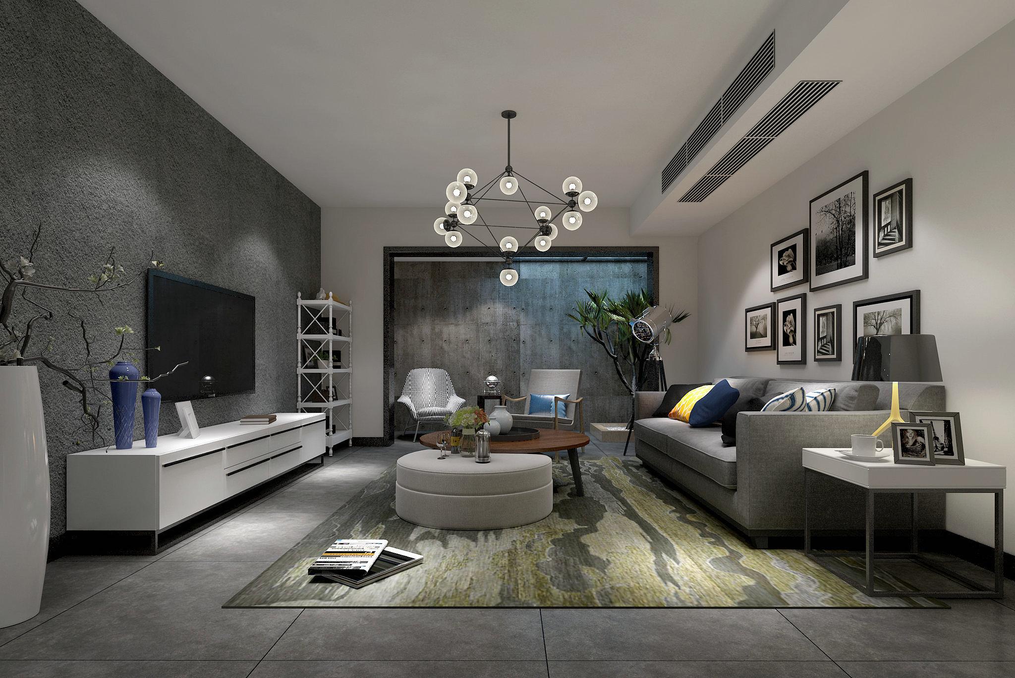 260㎡现代简约风格别墅装修 简单的奢华