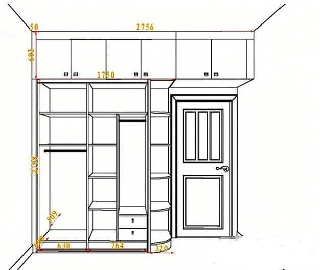 常见衣柜尺寸及内部结构图解大全